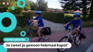 Lange fietstocht maken in de hitte? Deze kinderen doen het