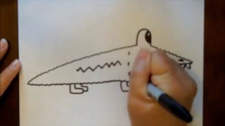 How To Draw An Alligator Crocodile Easy Step-by-Step Drawing Tutorial