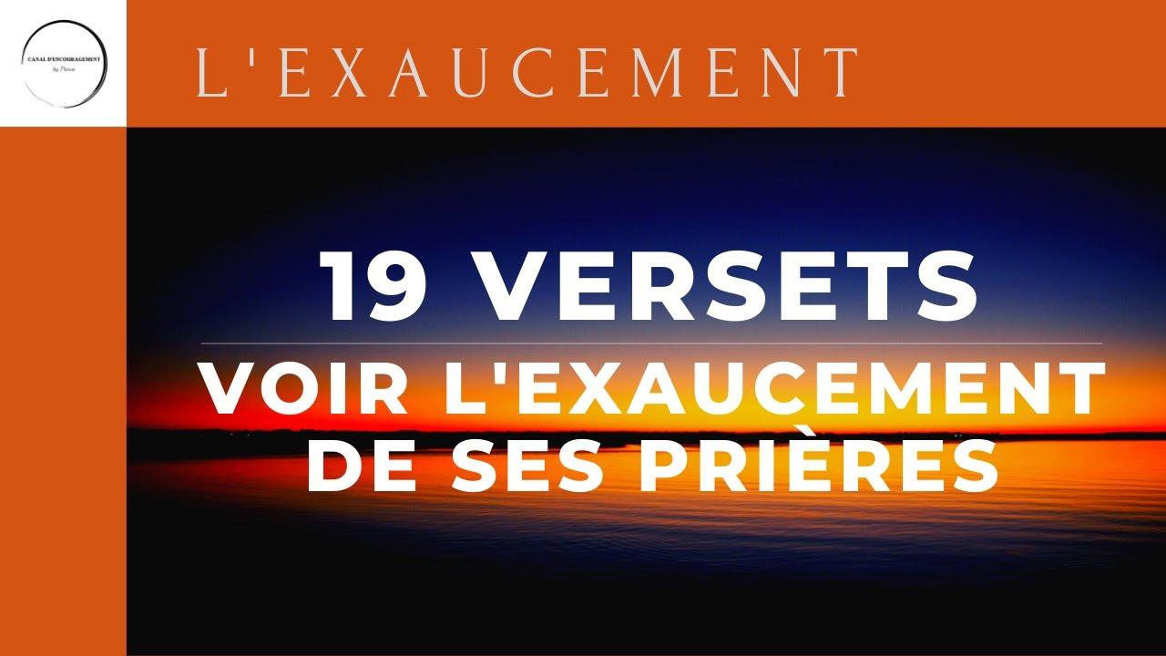 19 VERSETS POUR VOIR L'EXAUCEMENT DE SES PRIÈRES
