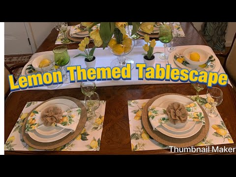 Summer Tablescape / Featuring Dollar Tree Dinnerware #lemontablescape #dollartree #glam