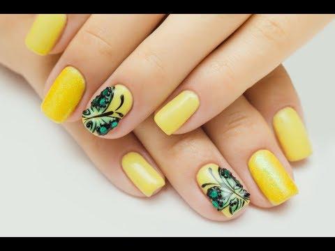 Фото желтые ногти