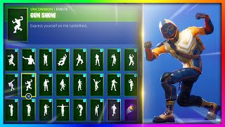 "ALL Emotes/Dances with *NEW* ""SUMMIT STRIKER"" Skin in Fortnite: Battle Royale!"