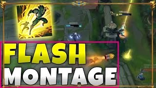 Top 20 Amazing Flash Trick Unbelievable Moments - Epic FLASHES Montage 2017 | Lol Funny Moments
