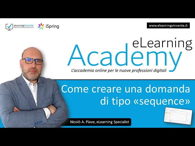 Come creare una domanda di tipo sequenza (sequence) con iSpring Suite 9.7 - Tutorial