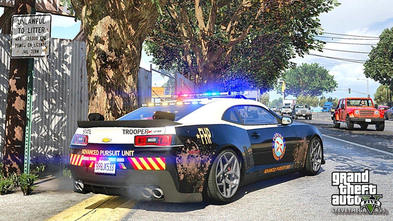 GTA 5 MODS LSPDFR 904 - FHP CAMARO PATROL!!! (GTA 5 REAL LIFE PC MOD) 4K  60FPS
