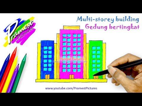Gedung Bertingkat Belajar Menggambar Dan Mewarnai Gambar Untuk