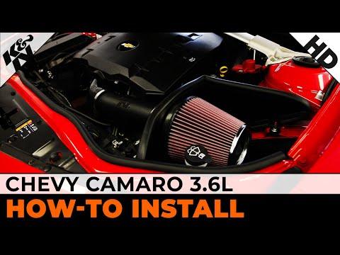 K/&N Performance Cold Air Intake Kit 69-4523TP with Lifetime Filter for Chevrolet Camaro 3.6L V6