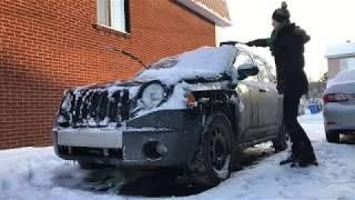 Odśnieżanie auta, Snow removal from my car - Iwona Blecharczyk Trucking Girl