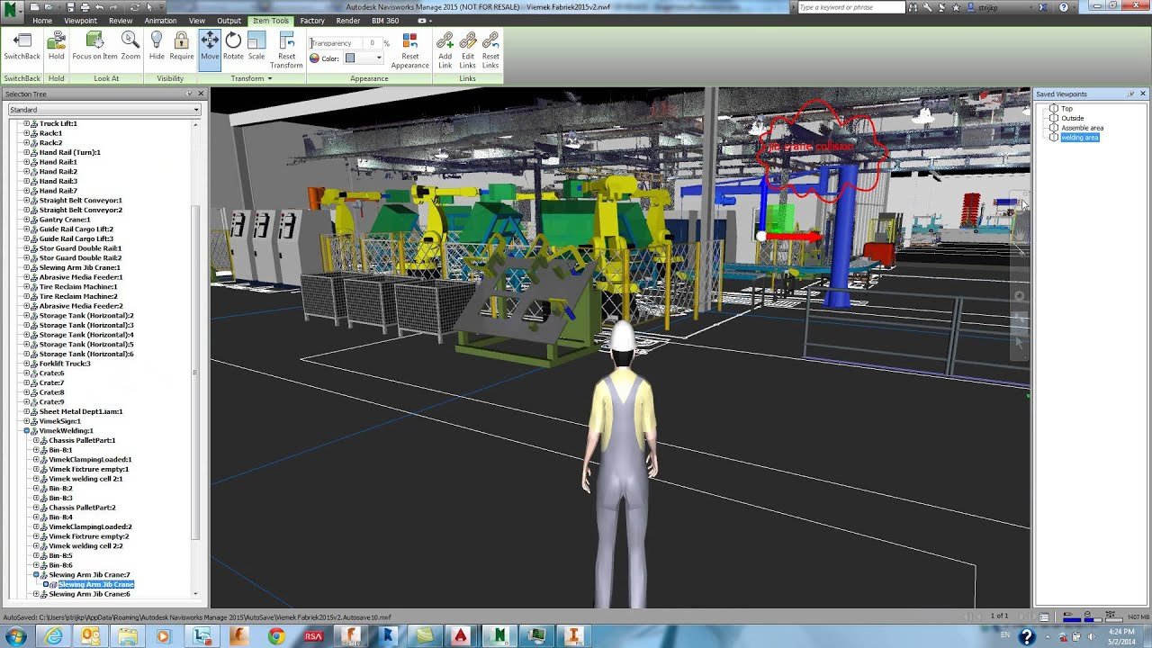 3d Scanning Amp Point Cloud In Navisworks Voor Factory
