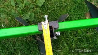 Розміри культиватора до міні трактора