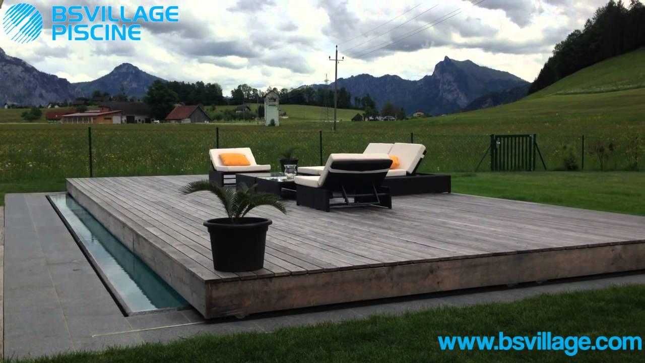 Copertura di sicurezza per piscina COVERWOOD a terrazza