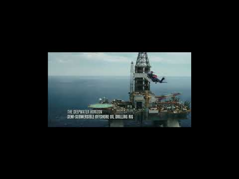 OFFSHORE OIL RIG STATUS - DEEP WATER HORIZON - GULF OF MEXICO - SEMI SUBMERSIBLE OFFSHORE RIG - 4K.