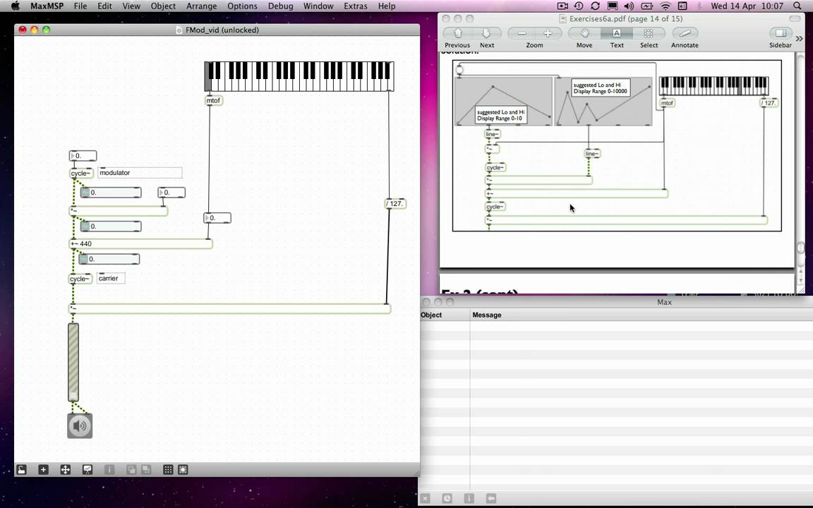 Max msp tutorial 06a5 frequency modulation 2 youtube max msp tutorial 06a5 frequency modulation 2 baditri Gallery