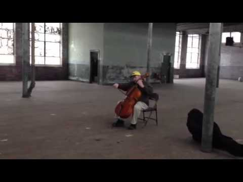 The Old Taylors Mill - Playing some Cello