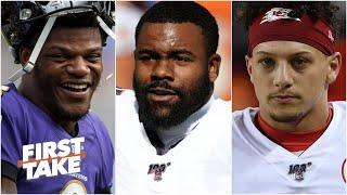 Mark Ingram on Lamar Jackson's leadership, the Ravens' season and Patrick Mahomes | First Take