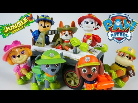 PAW PATROL NEW PUP TRACKER JUNGLE RESCUE VEHICLES CHASE MARSHALL SKYE