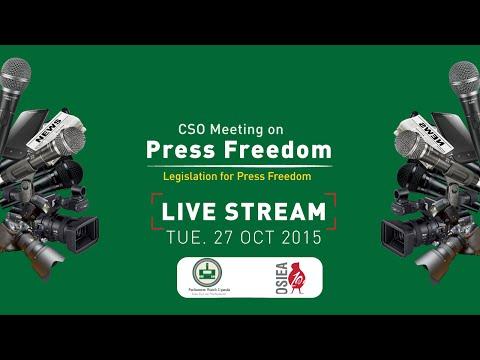 CSO Meeting on Press Freedom