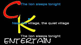 lion sleeps tonight. karaoke