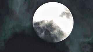 "Full Buck Moon Time-lapse, ""Clouds around the Moon"" - July 12, 2014"