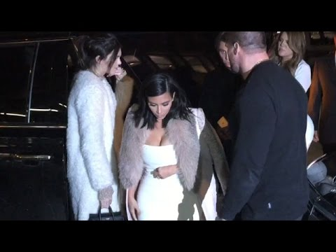 Kim And Khloe Kardashian And Kendall Jenner Are Matching For Night Out In NYC