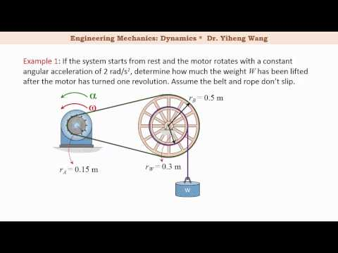[2015] Dynamics 24: Rotation about a Fixed Axis [with closed caption]