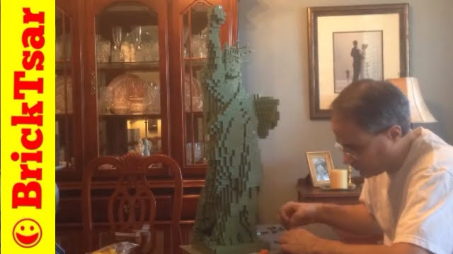 Lego 3450 Statue Of Liberty Speed Build Large 2881 Piece Sculpture