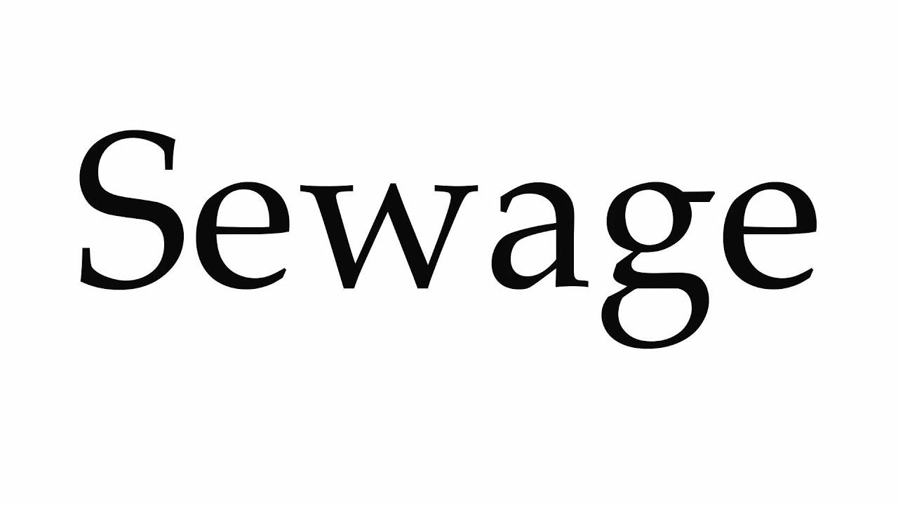 How to Pronounce Sewage