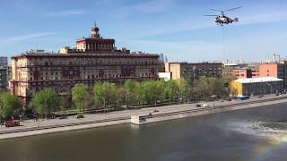 Заправка Вертолёта МЧС в Москва реке