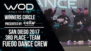 Fuego Dace Crew | 3rd Place Team Division | Winner's Circle | World of Dance San Diego | #WODSD17