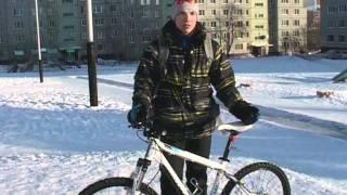 Утро с Губернией.Зимой на велосипеде