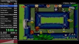 The Legend of Zelda: The Minish Cap 100% speedrun in 4:31:09 (PB)
