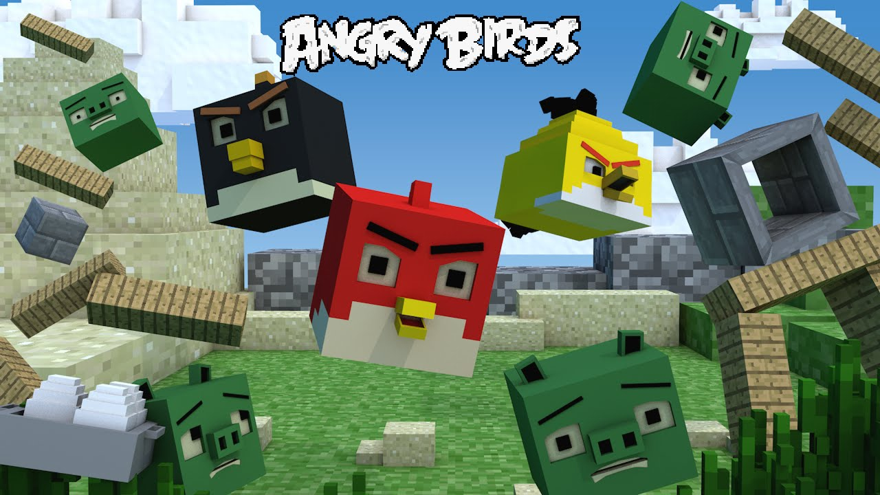 if angry birds was minecraft minecraft animation youtube. Black Bedroom Furniture Sets. Home Design Ideas