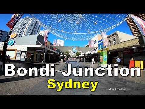Bondi Junction Shopping Street - Walking Tour - Sydney Australia