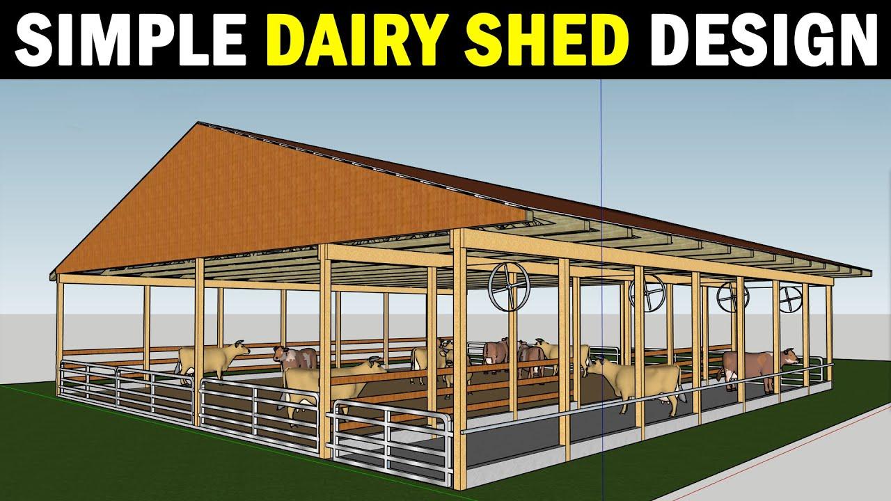 Dairy Shed Design | Cow farm Plans and Designs | Dairy Farming / Cow Farming
