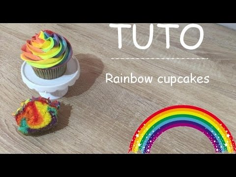 ♡•-recette-rainbow-cupcakes---how-to-make-rainbow-cupcakes-•♡