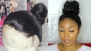 Glueless Full Lace Wig In A Bun | Customize / Pluck Your Lace Frontal Step By Step | RosaQueenHair