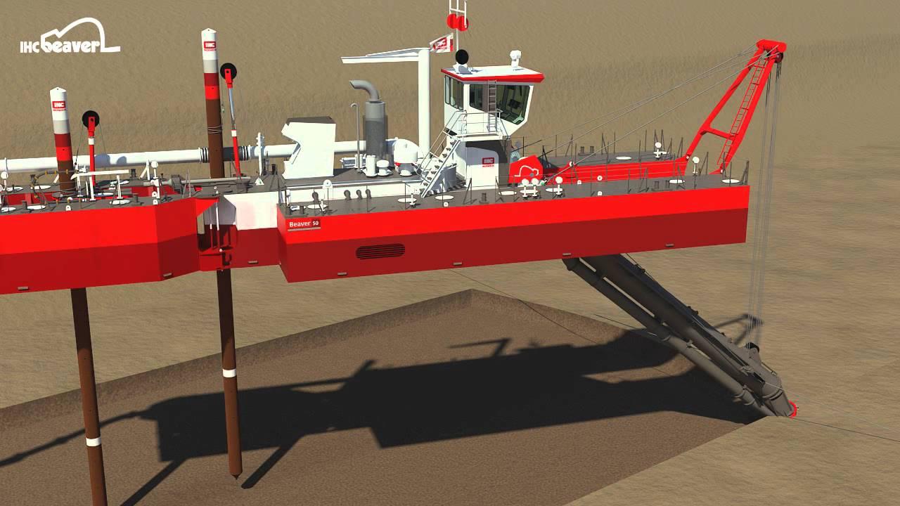 Download Advantage of a spud carrier - IHC Beaver 50 cutter dredger