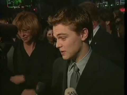 Leonardo DiCaprio at the Titanic Premiere in 1997