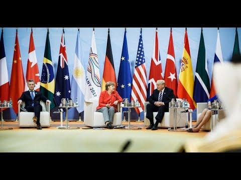 LIVE: President Donald Trump at G20 SUMMIT 2017 in Hamburg Germany - DAY 2