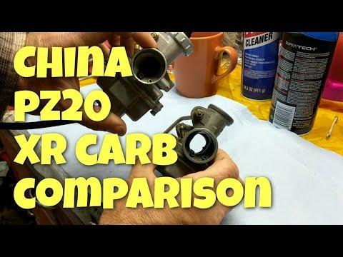Honda XR80 China PZ20 Carb Review Comparison