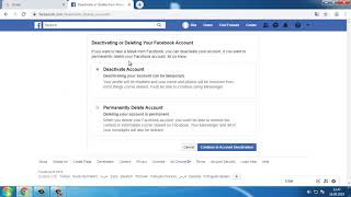 How To Deactivate Facebook Account Computer