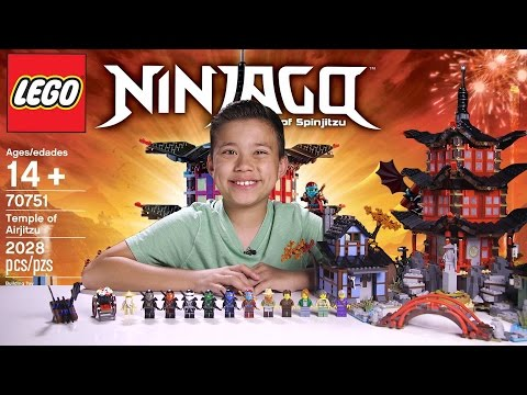 TEMPLE OF AIRJITZU - LEGO NINJAGO Set 70751 - Time-lapse Build, Unboxing & Review!