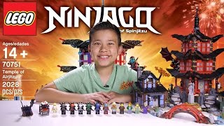 temple of airjitzu lego ninjago set 70751 time lapse build unboxing review