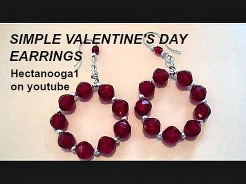 How To Make Valentine S Day Hoop Diy Earrings Jewelry Making Step