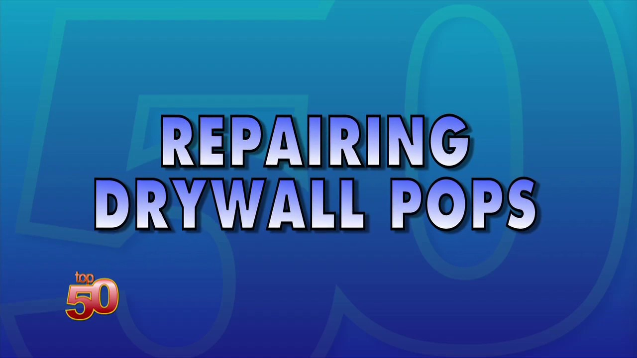 How To Fix A Drywall Nail Pop