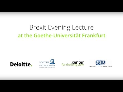 Brexit Evening Lecture at the Goethe-Universität Frankfurt w