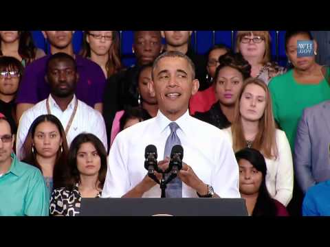 Obama Mocks GOP Attempt To Repeal Obamacare - Full Speech