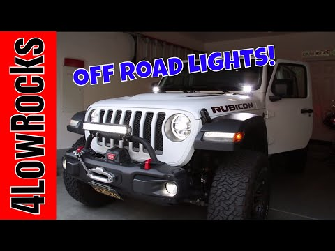 Jeep Wrangler JL Off-Road Lights Installation
