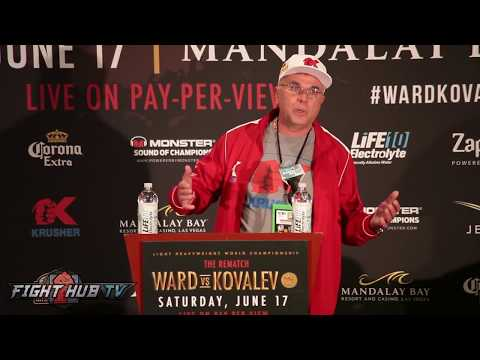 "Kovalev's Manager Goes Off ""Andre Ward is a lucky fucking Champion"""