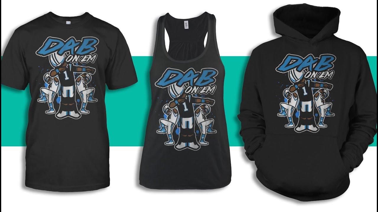 carolina panthers cam newton dab on em tshirt - Carolina Panthers Merchandise